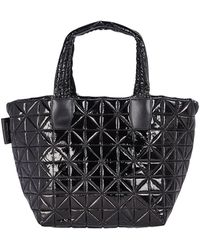 VeeCollective Vee Small Quilted Tote Bag - Black