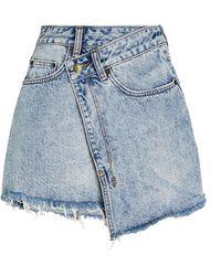 Ksubi Rap Clas Sick Mini Skirt - Blue
