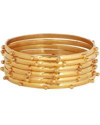 Sylvia Toledano Thin Studded Bangle Bracelets - Metallic