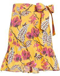 A.L.C. Hampton Floral Mini Wrap Skirt - Multicolor