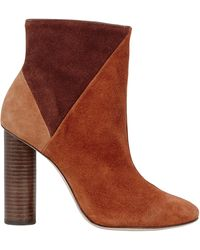Ulla Johnson Carin Patchwork Suede Booties - Brown