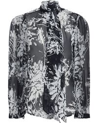1d1270ebfd9246 Equipment Cleone Floral Silk Blouse - Save 5.023923444976077% - Lyst