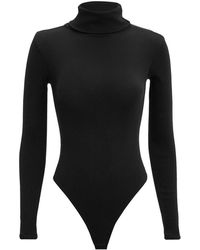 RE/DONE - Ribbed Turtleneck Bodysuit - Lyst