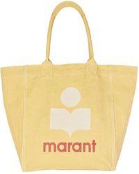 Isabel Marant Yenky Logo Canvas Tote Bag - Yellow