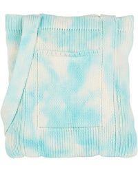 LoveShackFancy Foucault Tie-dye Knit Tote Bag - Blue