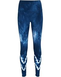 Electric and Rose Sunset Tie-dye Leggings - Blue
