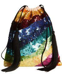 Attico - Multicolored Sequin Tassel Pouch - Lyst