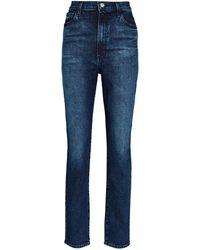 J Brand 1212 Runaway High-rise Slim Straight Jeans - Blue
