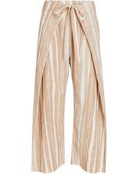 Cult Gaia Marais Striped Tie-waist Pants - Natural