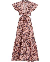 A.L.C. Alexandria Floral Cut-out Midi Dress - Pink