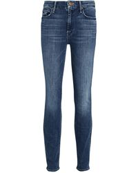 Mother The Looker High-waist Skinny Jeans - Blue