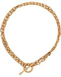 Ben-Amun T-link Chain-link Necklace - Metallic