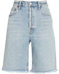 Agolde 90s Pinch Waist Bermuda Shorts - Blue