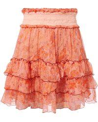 Poupette - Isma Ruffle Mini Skirt - Lyst