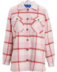 Résumé Pinja Checkered Shirt Jacket - Pink