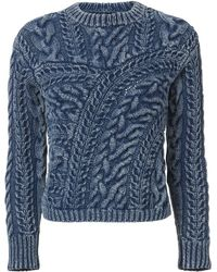 Exclusive For Intermix - Willow Patchwork Denim Sweater - Lyst