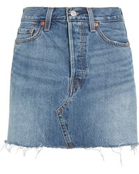 4028d2034 Levi's Desperate Measures Deconstructed Denim Skirt (for Women) in ...