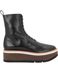 Robert Clergerie - Berenice Platform Leather Ankle Boots - Lyst