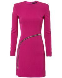 Alexander Wang - Curved Zip Detail Pink Dress - Lyst