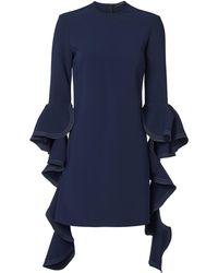 Ellery - Kilkenny Frill Sleeve Navy Dress - Lyst