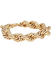 Brinker & Eliza Mini Showstopper Chain-link Bracelet - Metallic