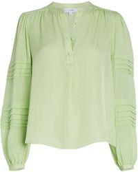 Intermix Clarissa Silk Blouse - Green
