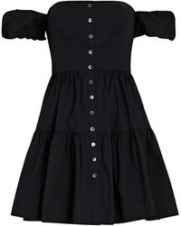 STAUD - Elio Off-the-shoulder Cotton Mini Dress - Lyst