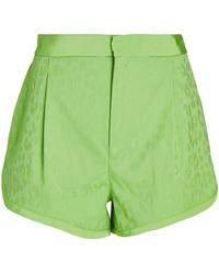 Dundas Leopard Jacquard Shorts - Green