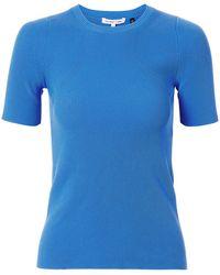 Helmut Lang - Rib Knit Essential Blue Tee - Lyst