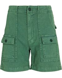 Mother The Rambler Patch Pocket Shorts - Green