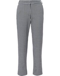 Tibi - Gingham Beatle Trousers - Lyst
