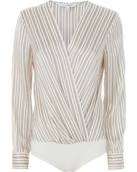 Exclusive For Intermix - Brody Striped Cross Front Bodysuit - Lyst