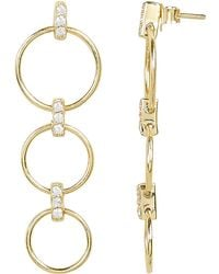 Ela Rae - Circle Drop Down Earrings - Lyst