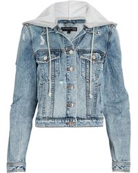 Veronica Beard Cara Hooded Jacket - Blue