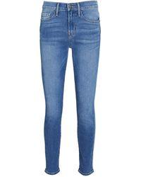 FRAME Le Skinny De Jeanne Crop Jeans - Blue
