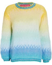Rose Carmine Oversized Ombré Mohair-blend Sweater - Multicolour