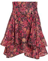 A.L.C. Vera Ruffled Floral Mini Skirt - Multicolor