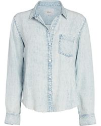 Rails Ingrid Raw Hem Button Down Shirt - Blue