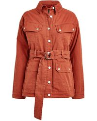 Marissa Webb Ellery Cotton Cargo Jacket - Orange