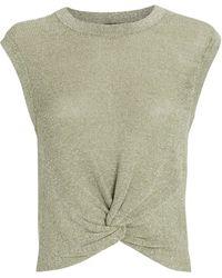 Veronica Beard Kellen Twist-front Sweater - Green