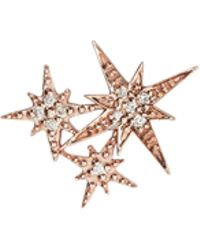 Sydney Evan | Triple Starburst Diamond Stud Earrings | Lyst