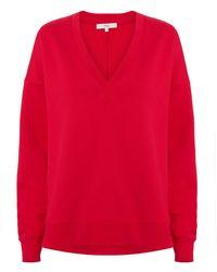 Tibi - Slouchy Red Sweatshirt - Lyst