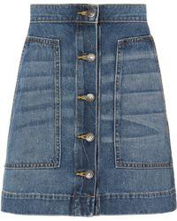 Veronica Beard - Getty Denim Mini Skirt - Lyst