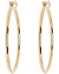 Young Frankk Bailey Thin Hoop Earrings - Metallic