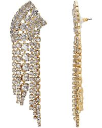 Elizabeth Cole - Fringed Crystal Earrings - Lyst