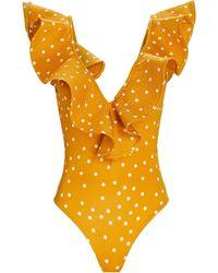 Johanna Ortiz Cenote Diver One-piece Swimsuit - Orange