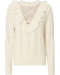 Nightcap - Ruffle Lace Sweater - Lyst