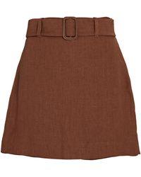 Nanushka Elowen Belted Mini Skort - Brown