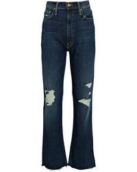 Mother The High-waisted Rider Ankle Jeans - Blue