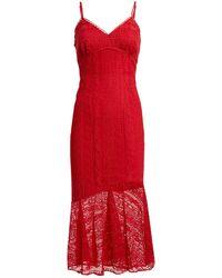 La Maison Talulah Rouge Lure Lace Midi Dress - Red